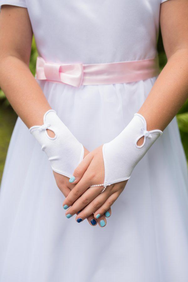 rękawiczki komunijne na palec