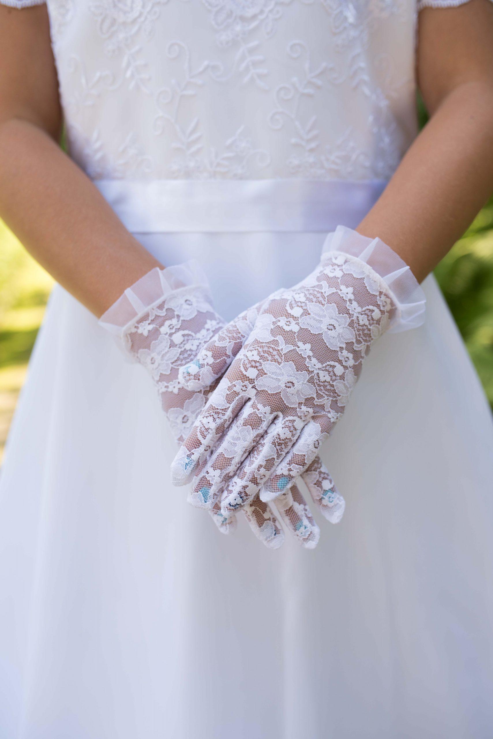rękawiczki koronkowe