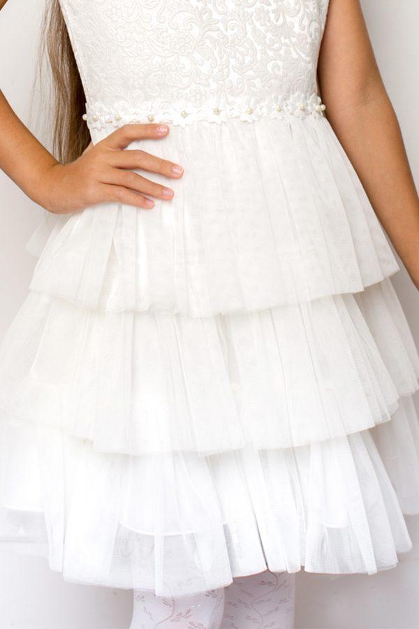 Biała suknia wizytowa dziewczęca
