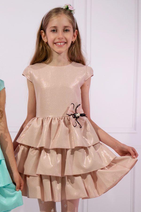 Różowa suknia wizytowa dziewczęca